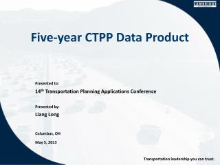 Five-year  CTPP  Data Product