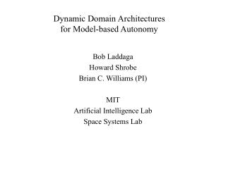 Dynamic Domain Architectures for Model-based Autonomy