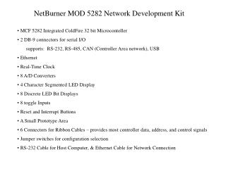 NetBurner MOD 5282 Network Development Kit