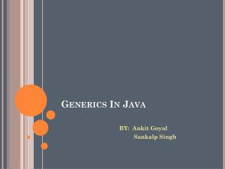 Generics In Java