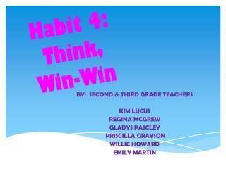 Habit 4:   Think,  Win-Win