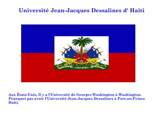 Université Jean-Jacques Dessalines d' Haiti