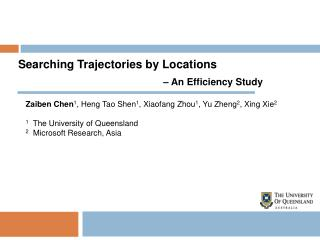 Searching Trajectories by Locations  – An Efficiency Study