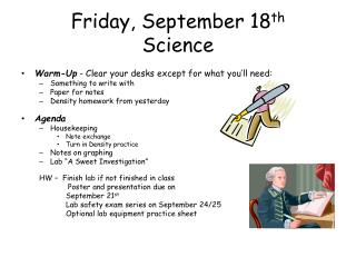 Friday,  September 18 th Science