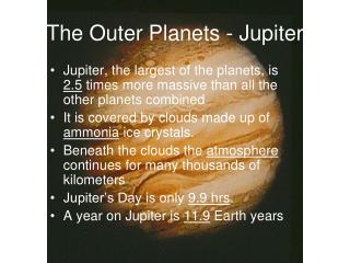 The Outer Planets - Jupiter