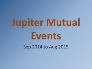 Jupiter Mutual Events