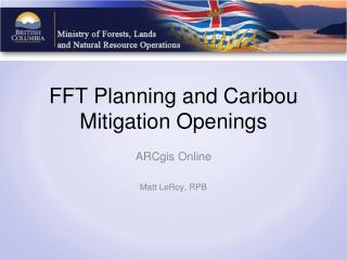 FFT Planning and Caribou Mitigation Openings