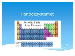 Periodesystemet