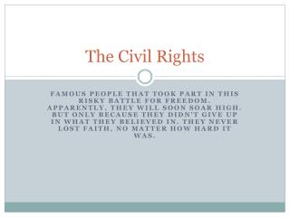 The Civil Rights