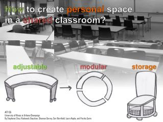 How  to create  personal  space in a  shared classroom?