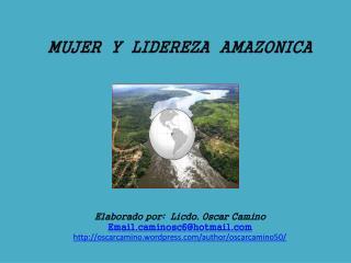 MUJER  Y  LIDEREZA  AMAZONICA