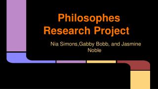 Philosophes Research Project