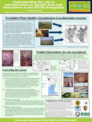 Understanding the role of eutrophication on aquatic food web interactions in the Florida Everglades