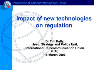 Impact of new technologies on regulation