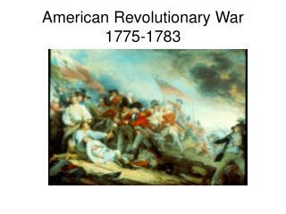 American Revolutionary War 1775-1783