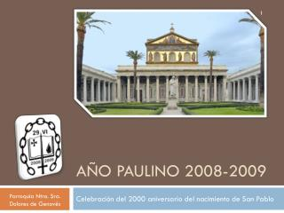 A�o paulino 2008-2009