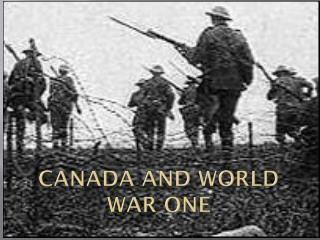 Canada and World War One