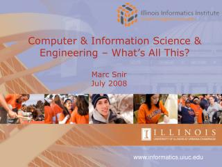 Computer & Information Science & Engineering – What's All This?