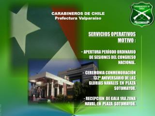 CARABINEROS DE CHILE Prefectura  Valparaíso