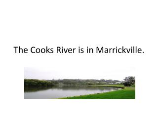 The Cooks River is in Marrickville.