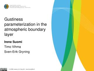 Gustiness parameterization in the atmospheric boundary layer