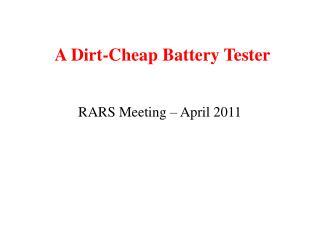 A Dirt-Cheap Battery Tester