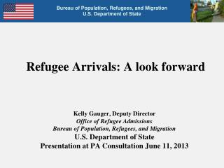 Refugee Arrivals: A look forward