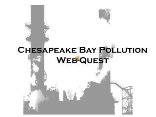 Chesapeake Bay Pollution Web-Quest