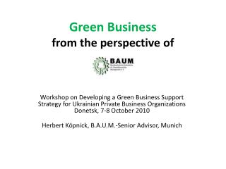 Green Business  from the perspective of