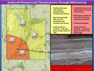 Scattered Showers and Thunderstorms Through Mid-Evening