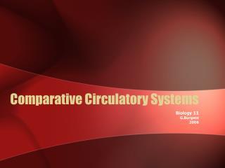 Comparative Circulatory Systems