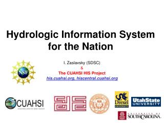 Hydrologic Information System  for the Nation