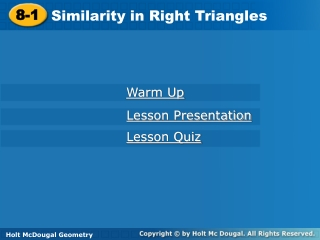 9.1 Similar Right Triangles