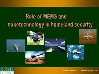 Role of MEMS and       nanotechnology in homeland security