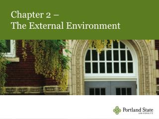 Chapter 2 – The External Environment