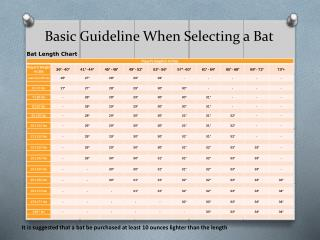 Basic Guideline When Selecting a Bat