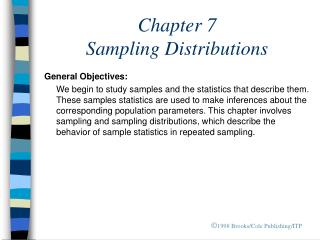 Chapter 7  Sampling Distributions