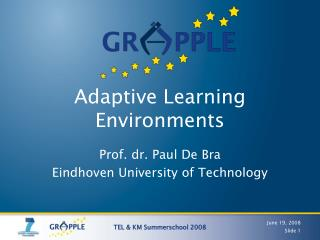 Adaptive Learning Environments