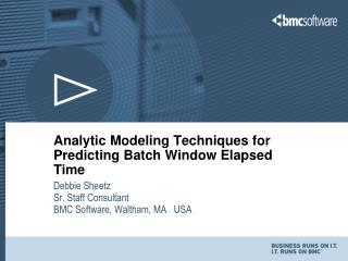 Analytic Modeling Techniques for Predicting Batch Window Elapsed Time
