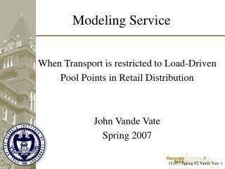 Modeling Service