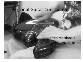 Personal Guitar Curriculum