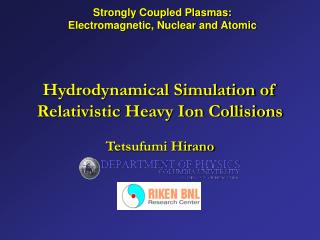 Hydrodynamical Simulation of Relativistic Heavy Ion Collisions