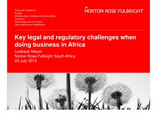 Key legal and regulatory challenges when doing business in Africa