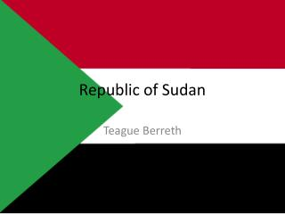 Republic of Sudan