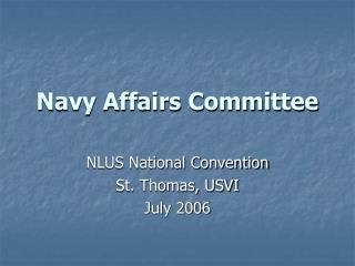 Navy Affairs Committee
