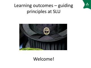 Learning outcomes – guiding principles at SLU