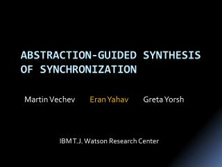 Abstraction-Guided Synthesis of synchronization