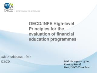 OECD/INFE High-level Principles for the evaluation of financial education programmes
