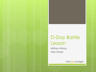 D-Day Battle Lesson