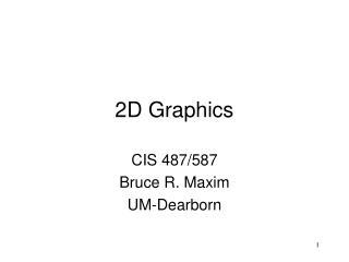 2D Graphics